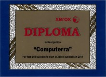 Компания КОМПУТЕРРА награждена дипломом XEROX